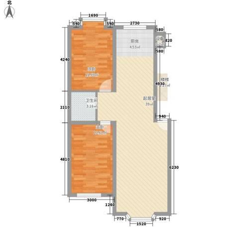 西河花苑2室0厅1卫0厨94.00㎡户型图