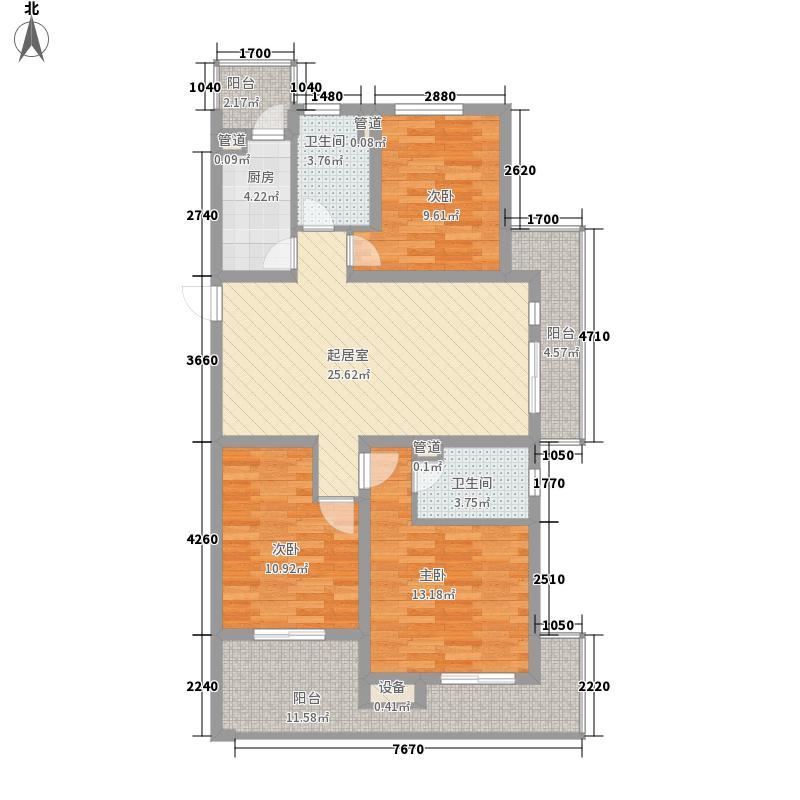 百大春城130.73㎡C1户型3室2厅2卫