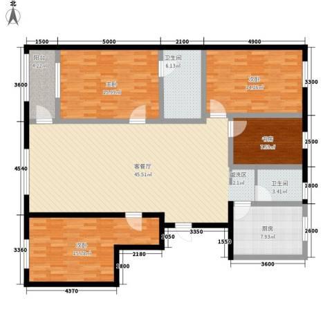 金水湾4室1厅2卫1厨171.00㎡户型图