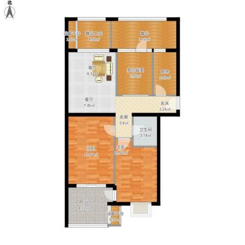 永康城市花园2室1厅1卫1厨136.00㎡户型图