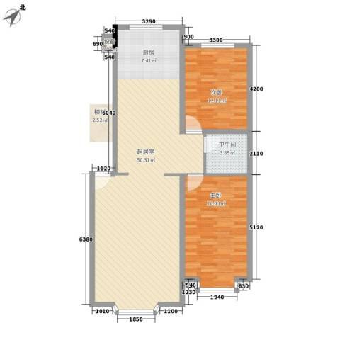 西河花苑2室0厅1卫0厨115.00㎡户型图