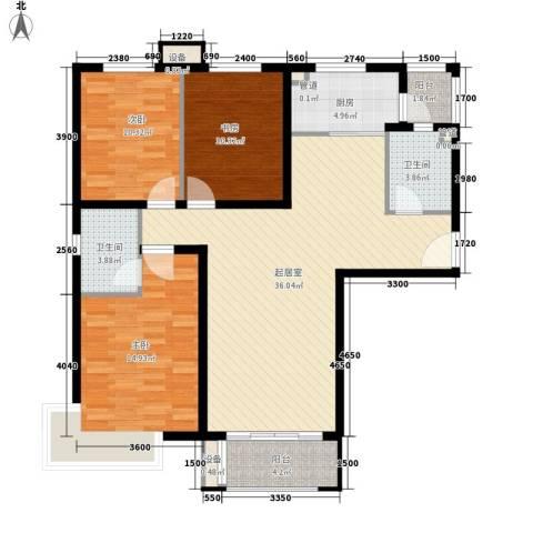 怡水花园三期3室0厅2卫1厨131.00㎡户型图