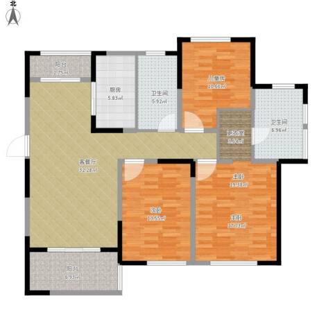 天正天御溪岸3室1厅2卫1厨146.00㎡户型图