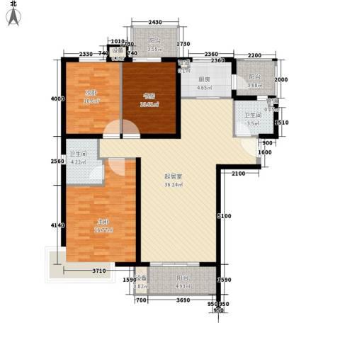怡水花园三期3室0厅2卫1厨142.00㎡户型图