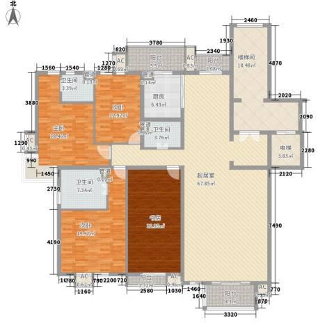 东花桥巷4室0厅3卫1厨286.00㎡户型图