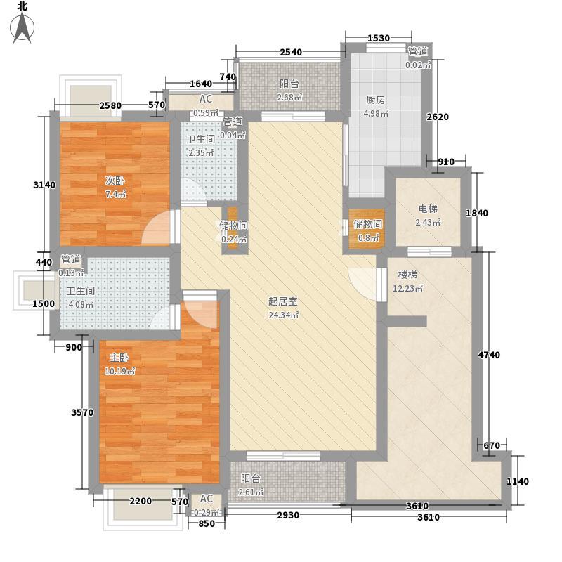 恒杰丁香花园112.89㎡恒杰丁香花园户型图E型户2室2厅2卫1厨户型2室2厅2卫1厨