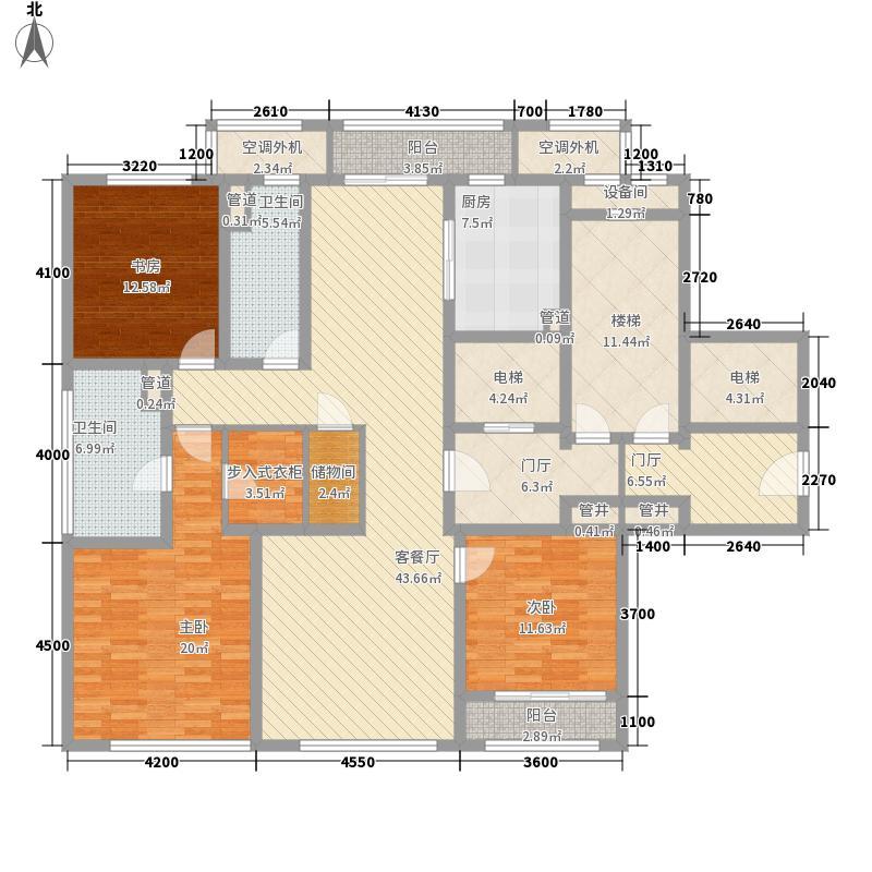 绿城西溪诚园一期B-1户型3室2厅