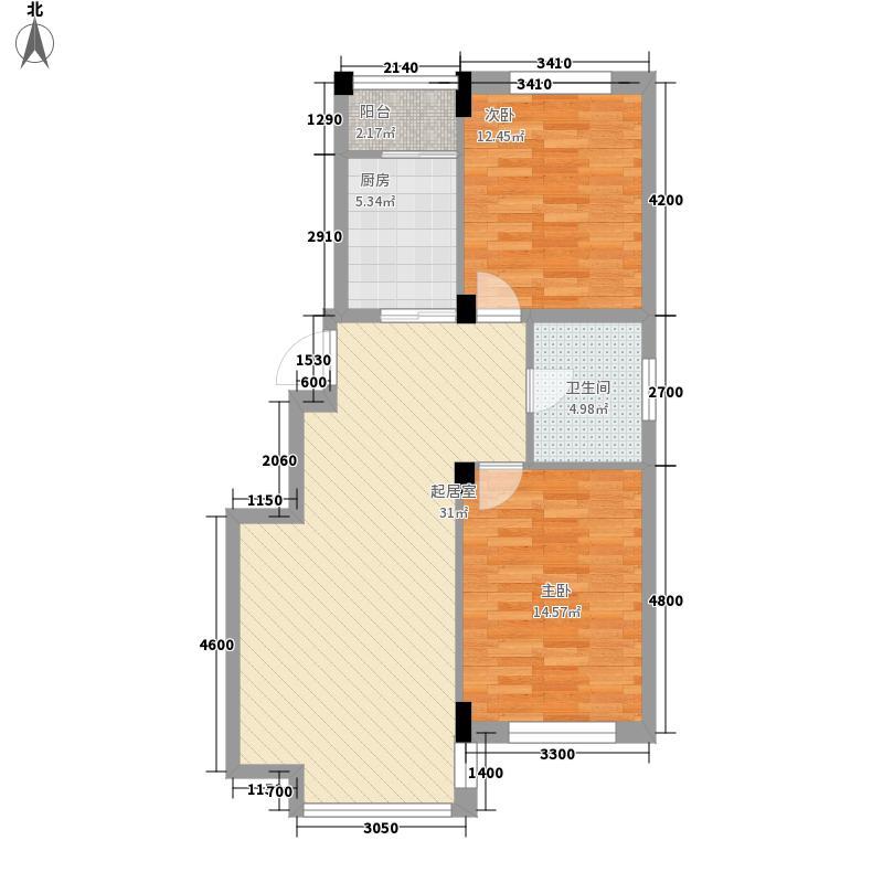 城建梦翔之家100.67㎡城建梦翔之家户型图2室2厅1卫户型10室