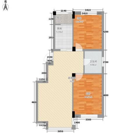 城建梦翔之家2室0厅1卫1厨101.00㎡户型图