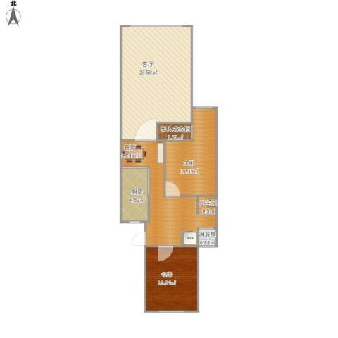 乾溪二村2室2厅1卫1厨90.00㎡户型图