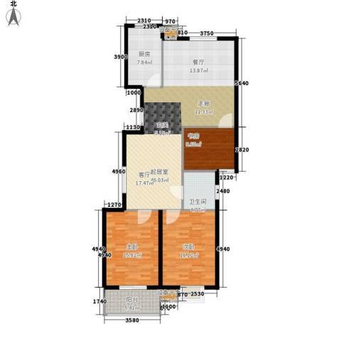 文昌雅苑3室0厅1卫1厨117.00㎡户型图