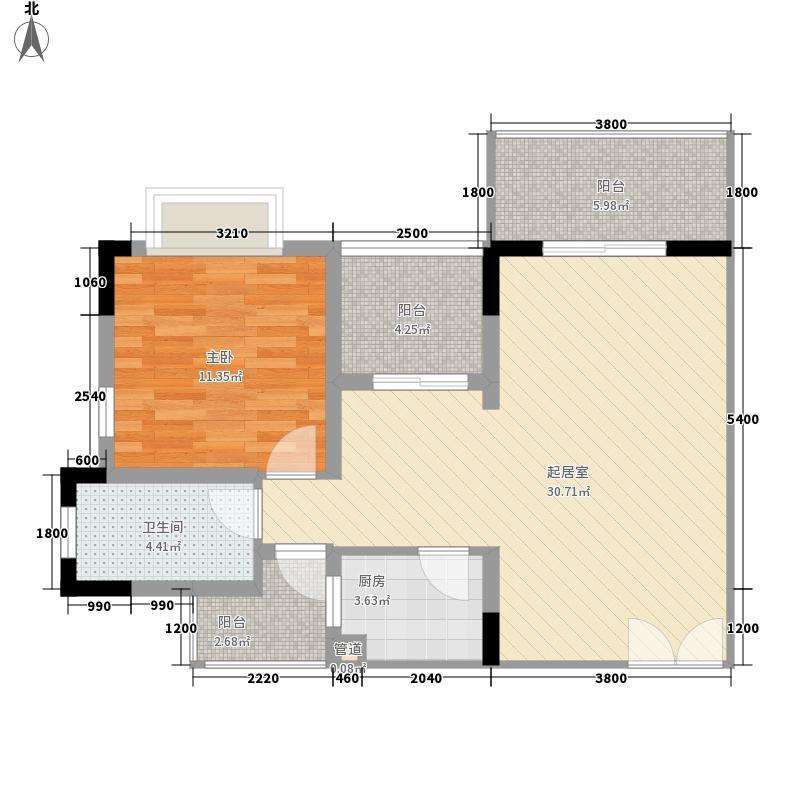 衍宏万国中央区78.87㎡A户型2室2厅