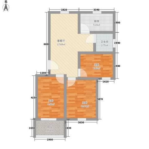 东陆新村九街坊3室1厅1卫1厨82.00㎡户型图