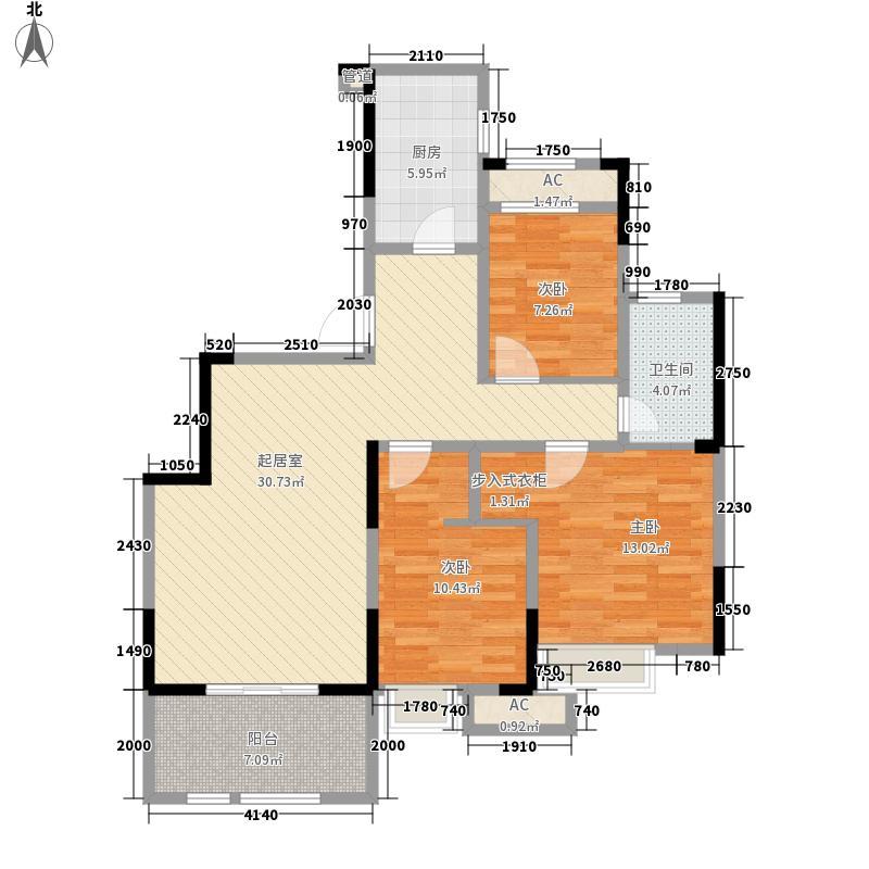 当代安普顿小镇105.33㎡A户型3室2厅
