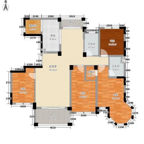 当代清水园4室0厅2卫1厨190.00㎡户型图