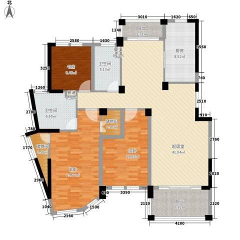当代清水园3室0厅2卫1厨169.00㎡户型图