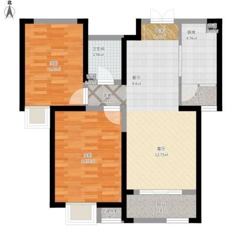西华公馆2室1厅1卫1厨93.00㎡户型图