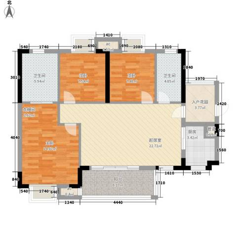 KPR佳兆业广场3室0厅2卫1厨110.00㎡户型图