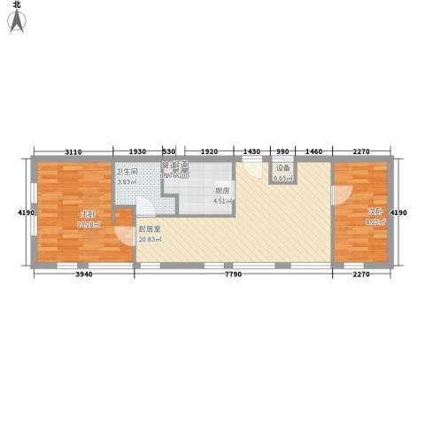 观城2室0厅1卫1厨59.00㎡户型图