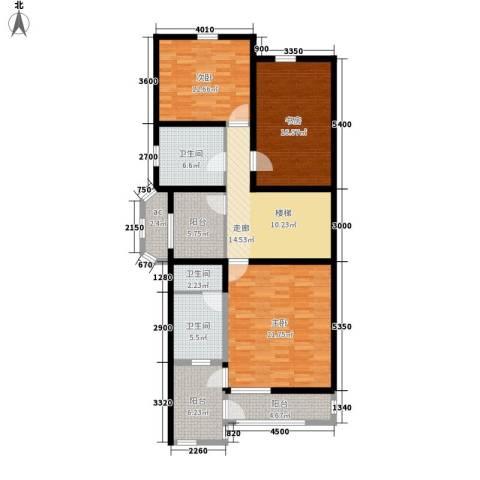锦绣家园3室0厅3卫0厨142.00㎡户型图
