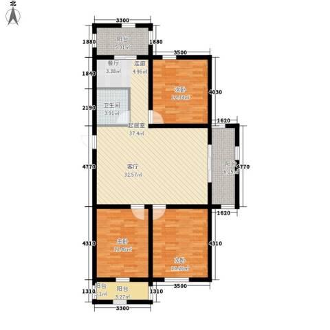 锦江花园三区3室0厅1卫0厨114.00㎡户型图
