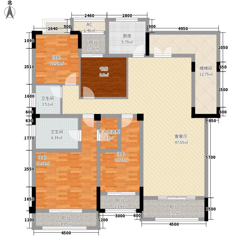 绿地海外滩洋房A13/3F户型4室2厅