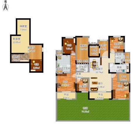 金地湾流域5室1厅3卫1厨356.00㎡户型图