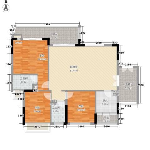 勤天一品树院别墅3室0厅2卫1厨128.00㎡户型图