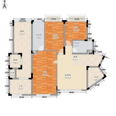 江南世家别墅3室0厅2卫0厨182.00㎡户型图