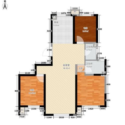 格调林泉3室0厅2卫0厨132.00㎡户型图