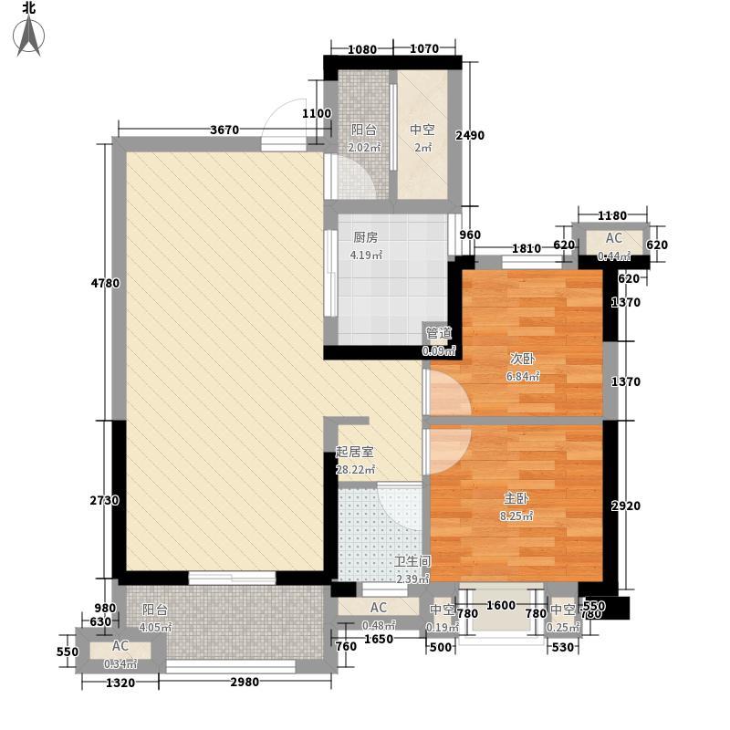 百步亭金桥汇89.00㎡Ⅱ高层B10户型2室2厅