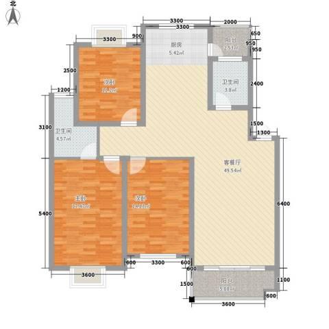 栖月苑别墅3室1厅2卫0厨152.00㎡户型图