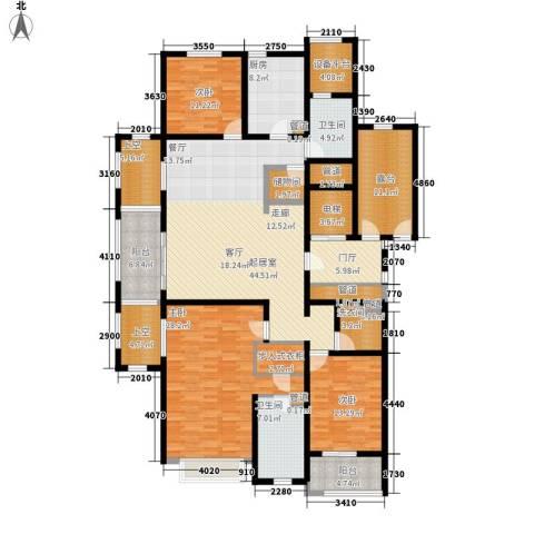 莲花苑四期3室0厅2卫1厨187.00㎡户型图