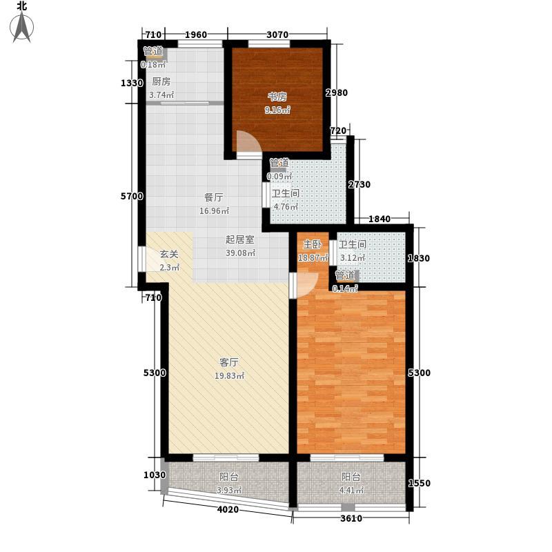 新天地公寓143.07㎡4C户型2室2厅2卫1厨