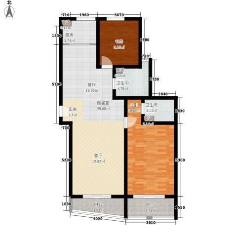 新天地公寓2室0厅2卫1厨143.00㎡户型图