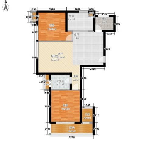 新天地公寓2室0厅1卫1厨119.00㎡户型图