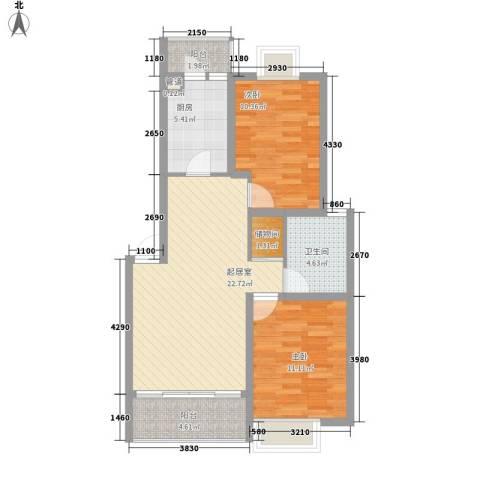 翠微品墅别墅2室0厅1卫1厨90.00㎡户型图