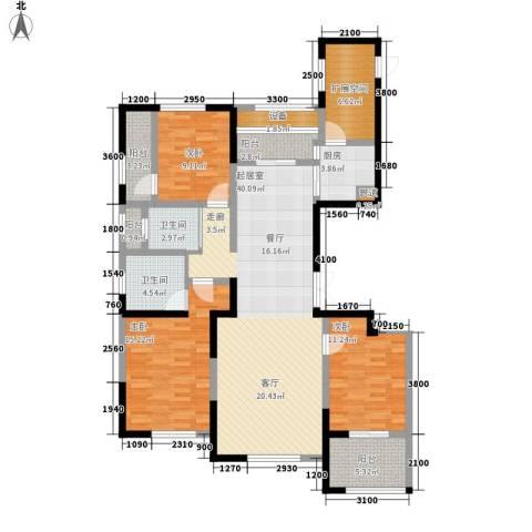 纳爱斯阳光锦城3室0厅2卫1厨142.00㎡户型图
