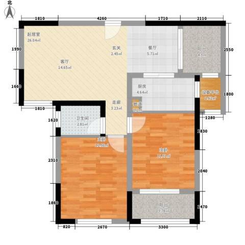 纳爱斯阳光锦城2室0厅1卫1厨92.00㎡户型图