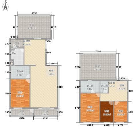 五栋大楼4室0厅3卫1厨247.74㎡户型图