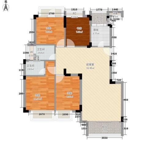 江南世家别墅4室0厅2卫1厨119.00㎡户型图