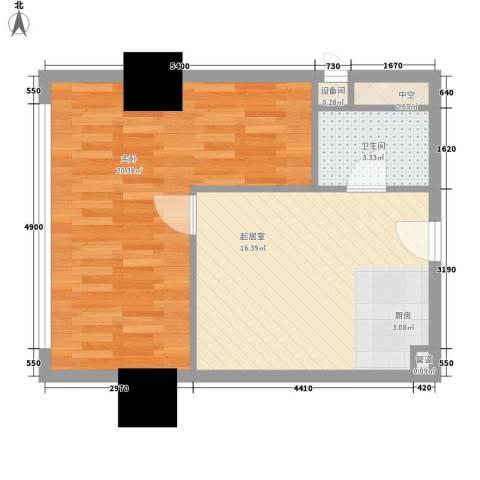 大都文苑风情1室0厅1卫0厨68.00㎡户型图