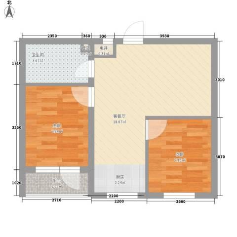 幸福人家2室1厅1卫0厨65.00㎡户型图