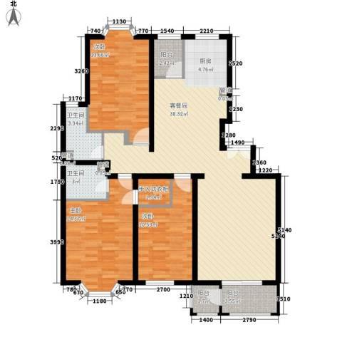 大宁山庄别墅3室0厅2卫0厨140.00㎡户型图
