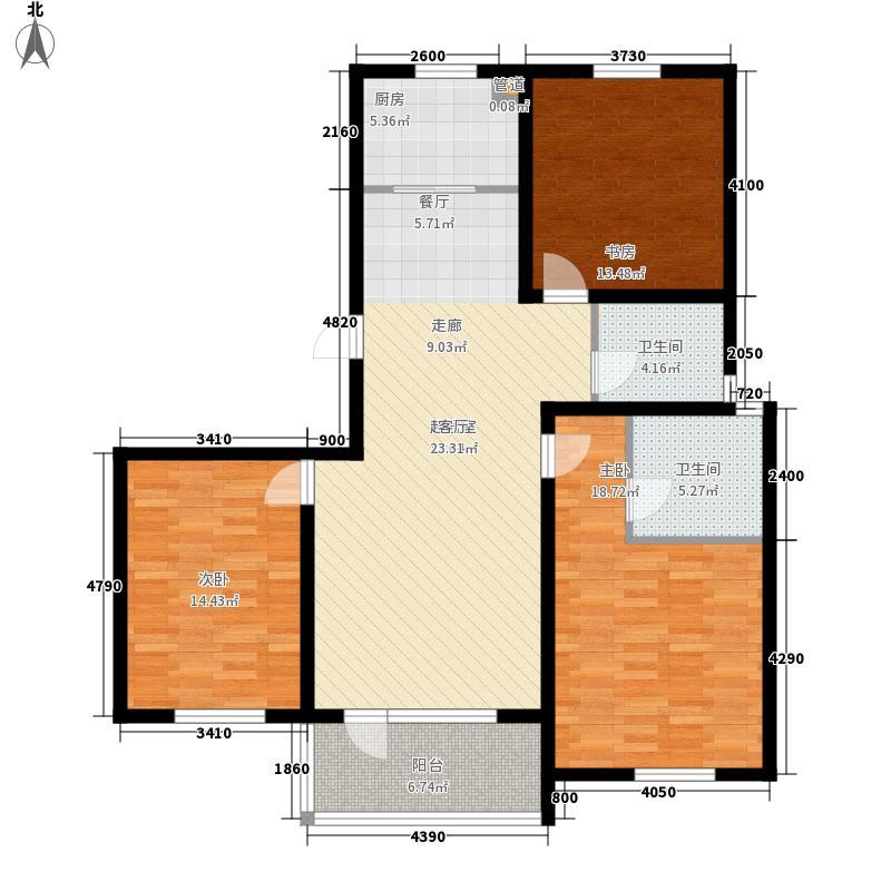 金域蓝湾118.00㎡金域蓝湾户型图GB2户型3室2厅2卫1厨户型3室2厅2卫1厨