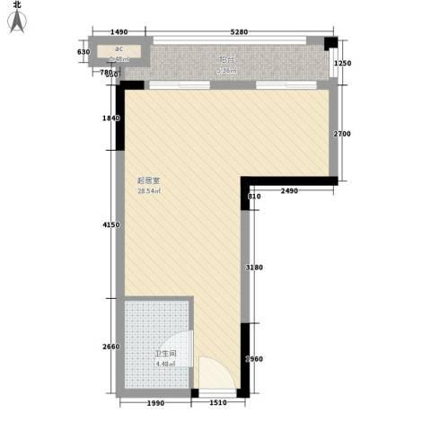 KPR佳兆业广场1卫0厨57.00㎡户型图