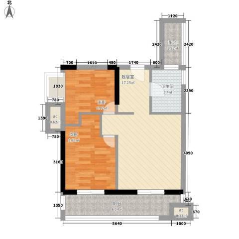 KPR佳兆业广场2室0厅1卫0厨67.00㎡户型图