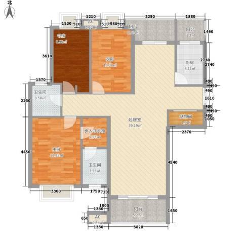 翠微品墅别墅3室0厅2卫1厨142.00㎡户型图