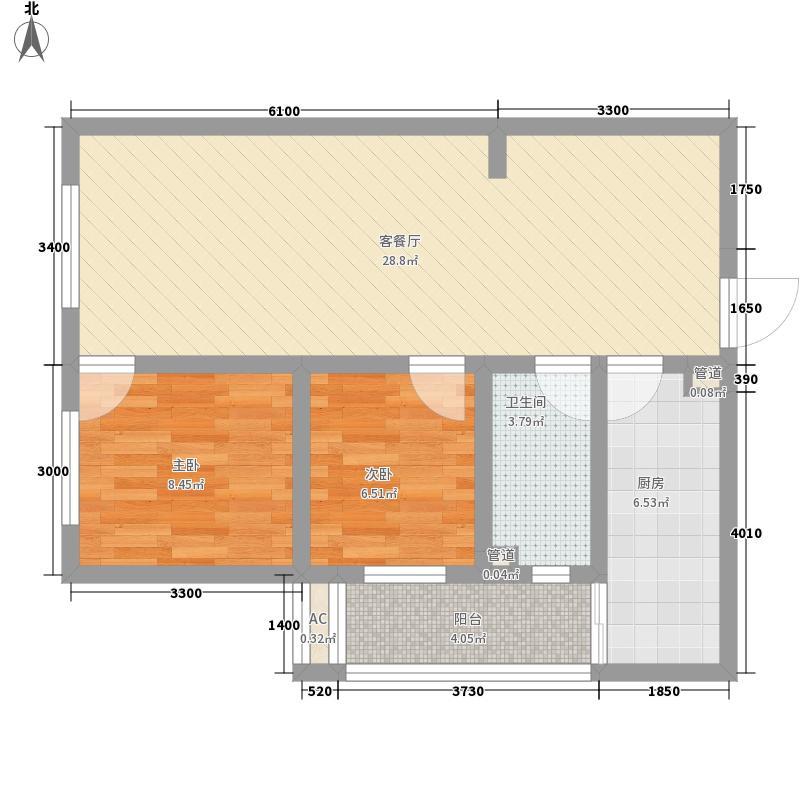 高新大都荟88.63㎡M-1户型2室2厅