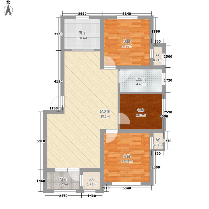 银亿格兰郡102.00㎡C户型3室2厅